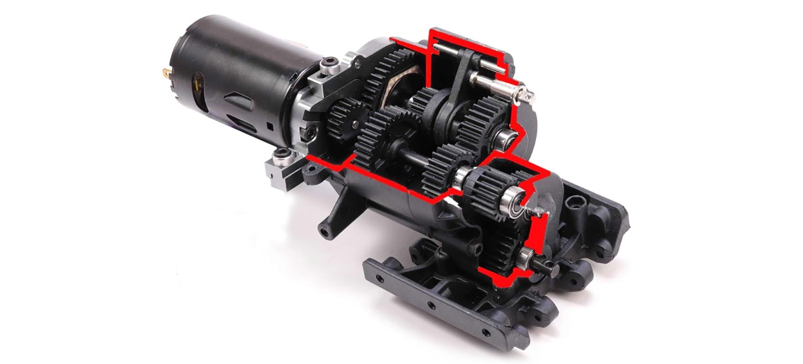 AMXRock RCX8 Getriebe