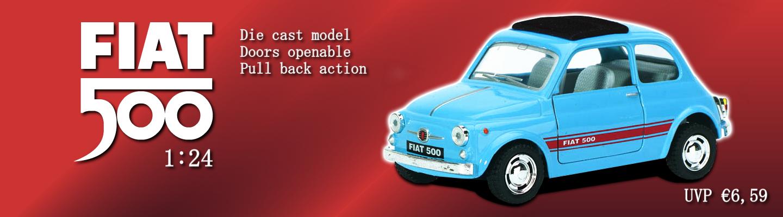 Die Cast Fiat 500 Lizenzmodell